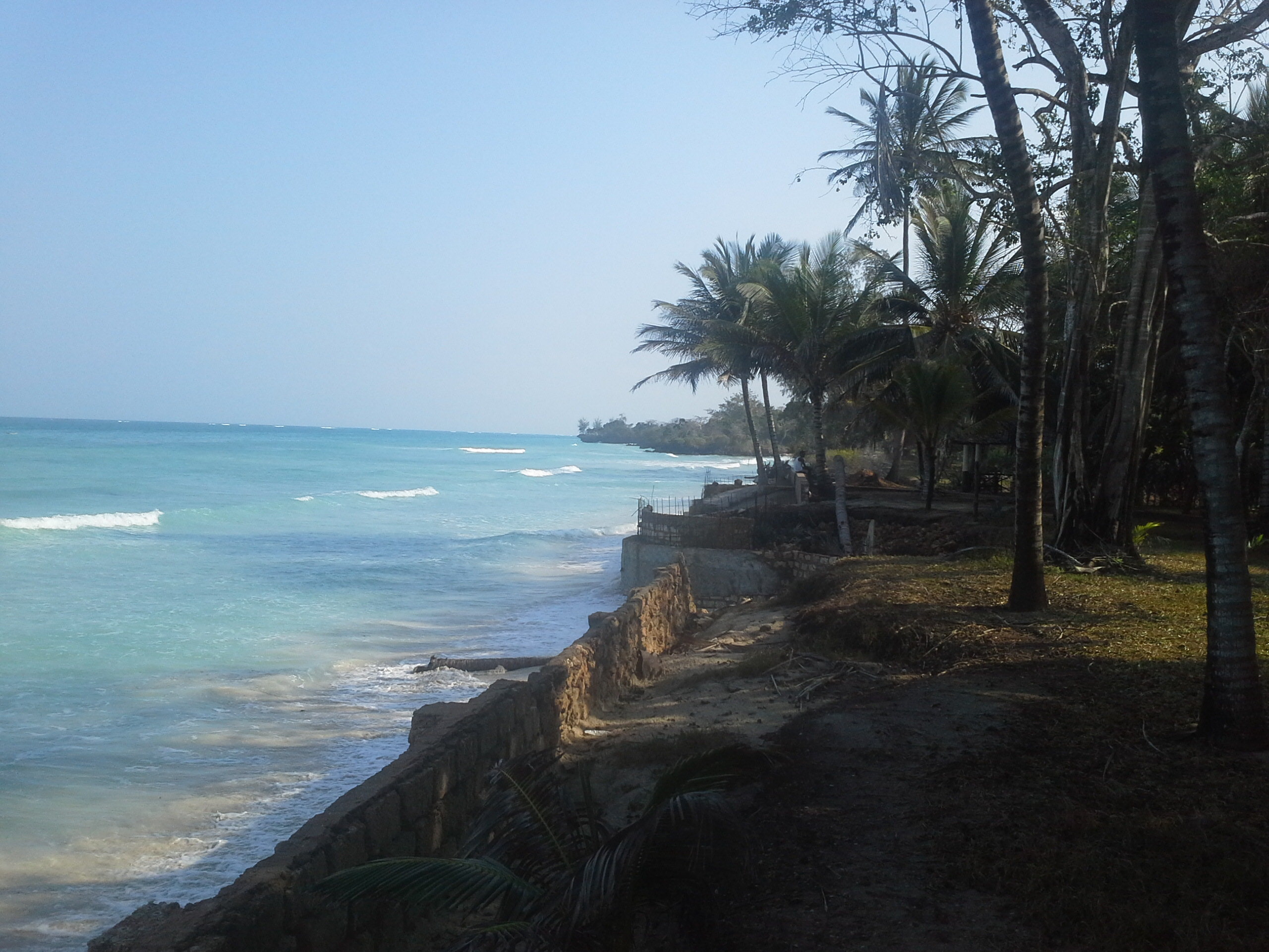 Oceanfront property for sale in Galu Beach South of Diani